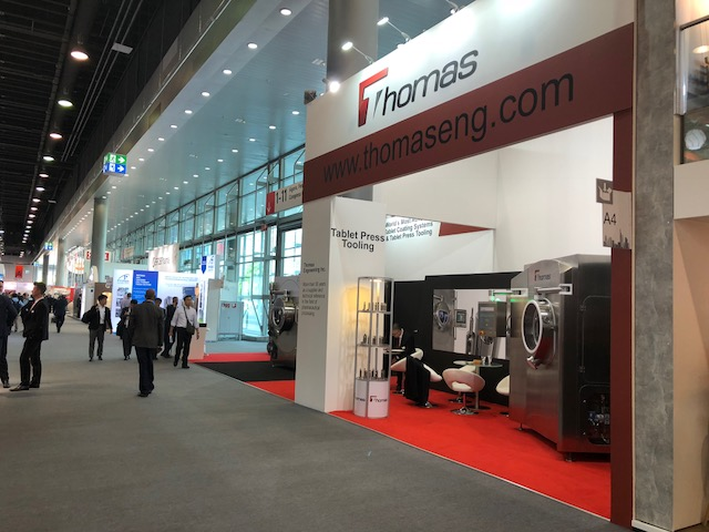 Exhibition stand design and build for Thomas at Achema 2018 Frankfurt, Germany