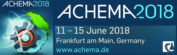 Achema 2018 Exhibition Frankfurt, Germany