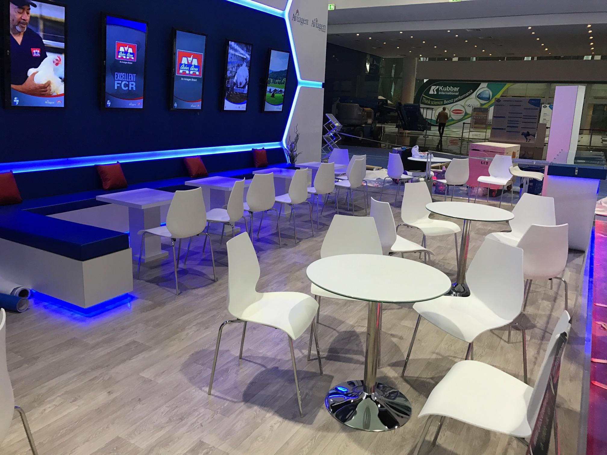 Trade show stand for Aviagen at VIV MEA 2018 ADNEC Abu Dhabi UAE