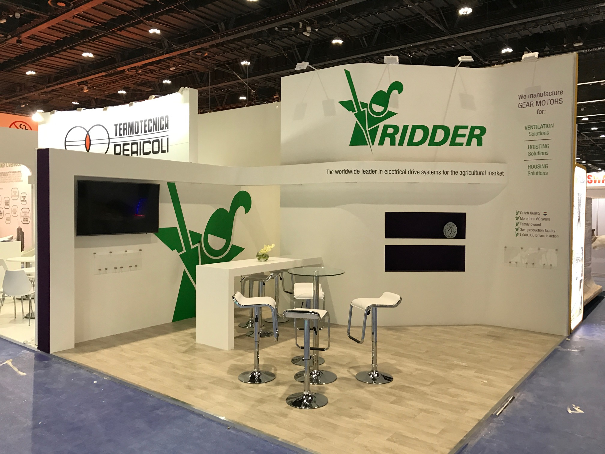 Bespoke exhibition stand for Ridder at ADNEC Abu Dhabi UAE VIV MEA 2018