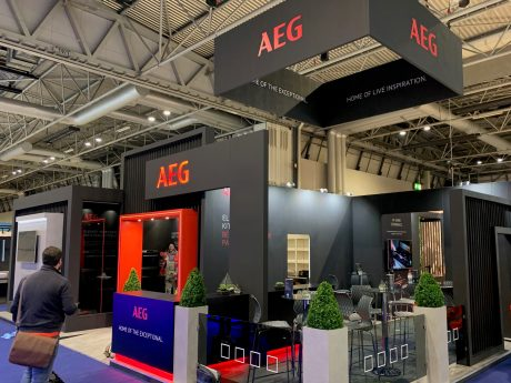 Bespoke exhibition stand for AEG at KBB NEC