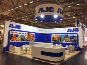 Exhibition stand design and build for AJC Group at Anuga 2017 Cologne, Germany