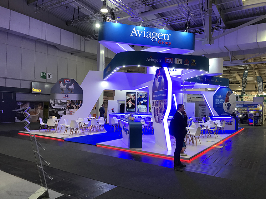 Bespoke exhibition stand for Aviagen at Eurotier event in Hannover Germany