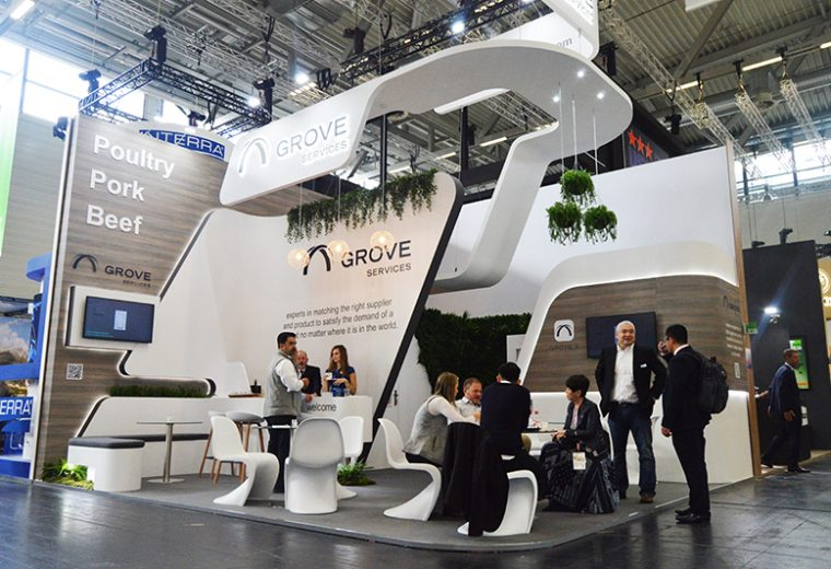 Bespoke-exhibition-standGrove Services at Anuga in Koelnmesse