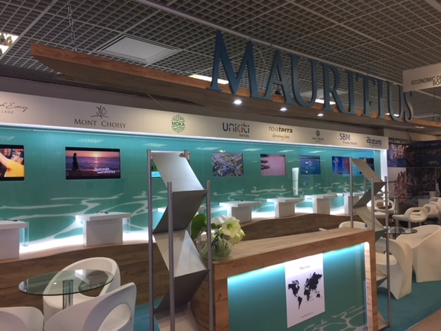 Exhibition stand design and build for Mauritius at MIPIM - Palais des Festivals, Cannes France