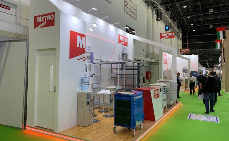 Bespoke exhibition stand for Metro at Arab Health DICEC Dubai