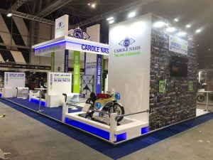 Bespoke exhibition stand design and build at Motorcycle Live 2018 NEC Birmingham UK