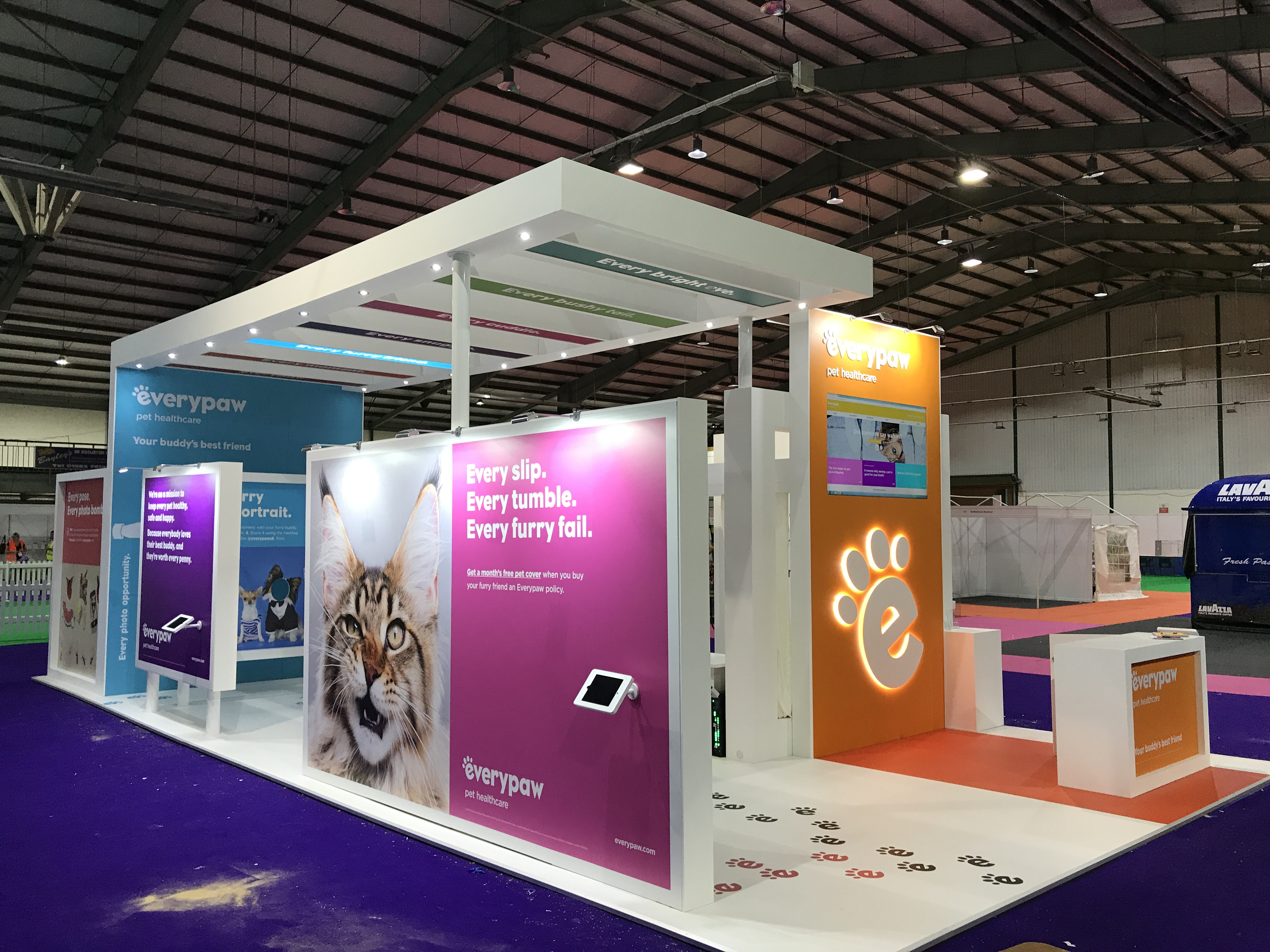 Custom built exhibition stand Everypaw Pet Healthcare County Showground, Stafford