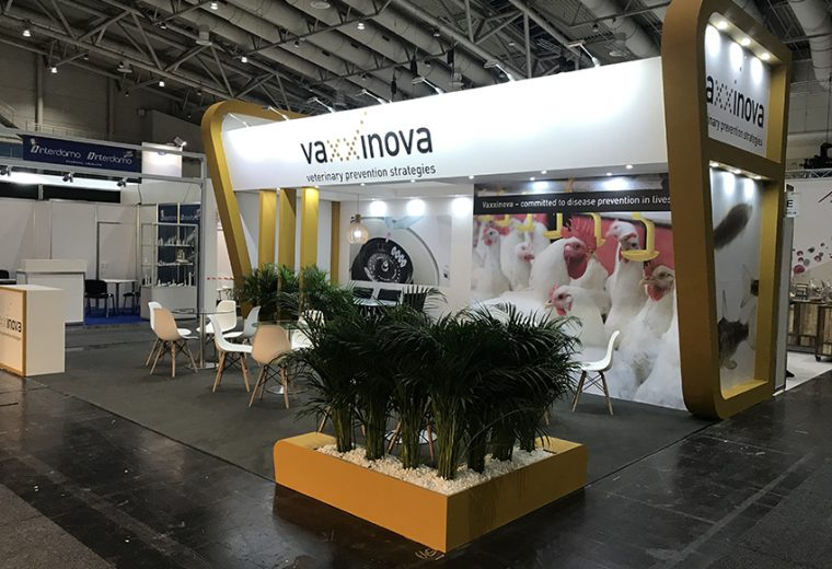 Bespoke exhibition stand for Vaxxinova at Eurotier in Hannover