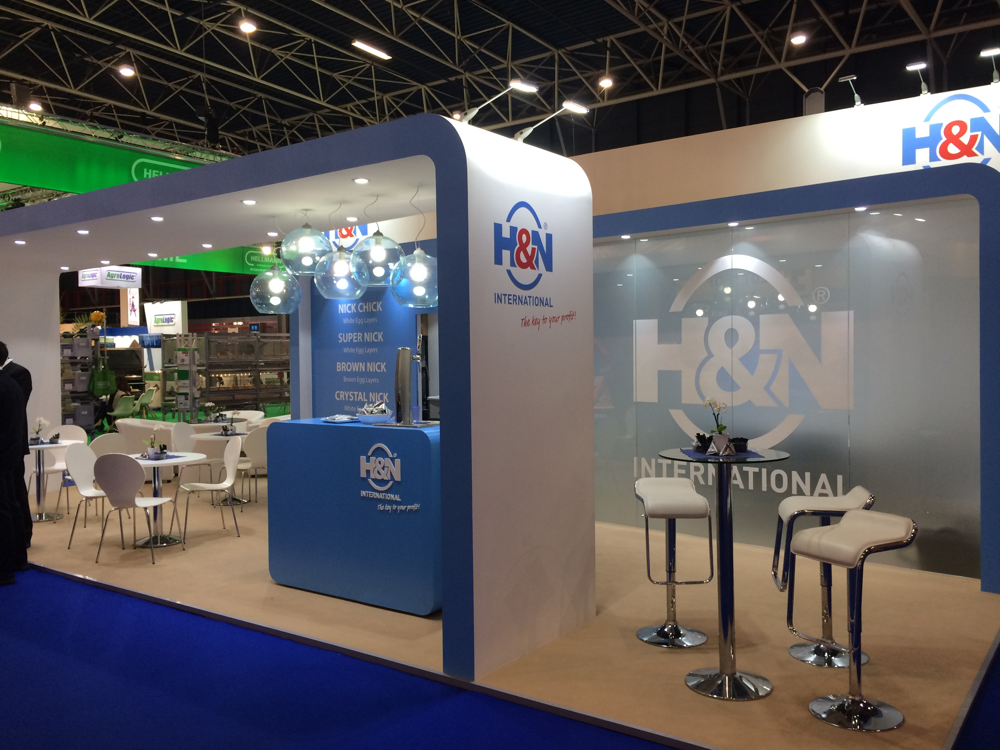 Custom built exhibition stand for H&N International at Jaarbeurs Utrecht, The Netherlands