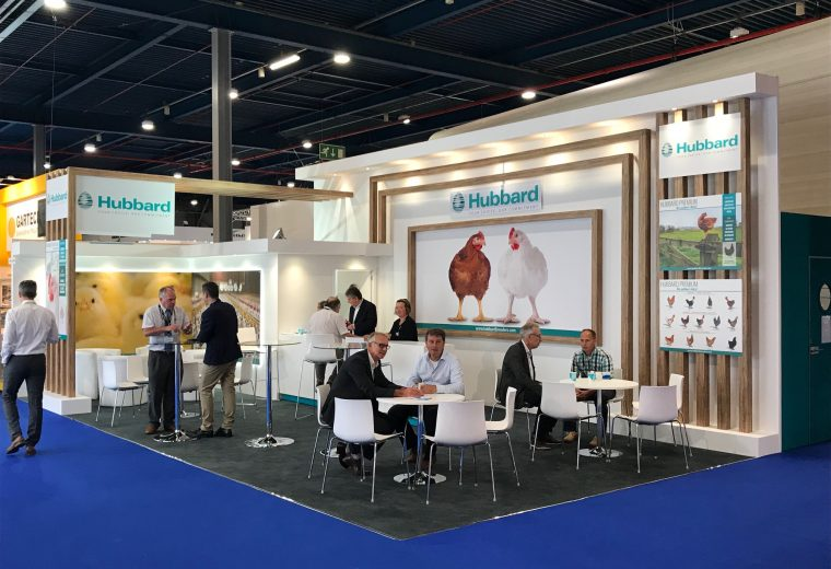 Bespoke exhibition stand for Hubbard at VIV Europe Jaarbeurs Utrecht, The Netherlands