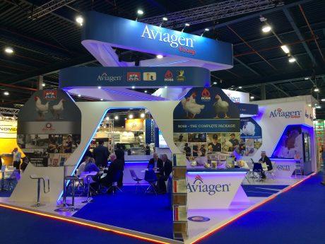 Custom built exhibition stand for Aviagen at VIV Europe 2018 Utrecht, The Netherlands