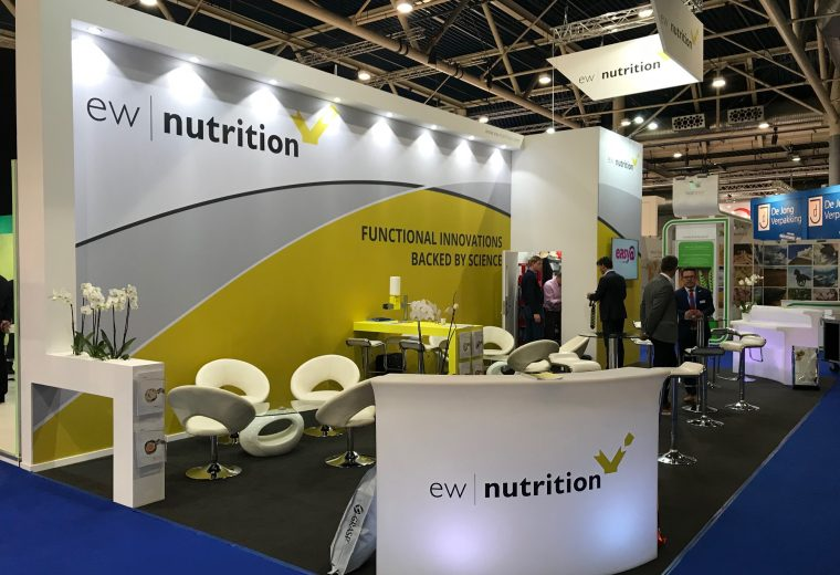 Bespoke exhibition stand for EW Nutrition at VIV Europe 2018 Jaarbeurs Utrecht, The Netherlands
