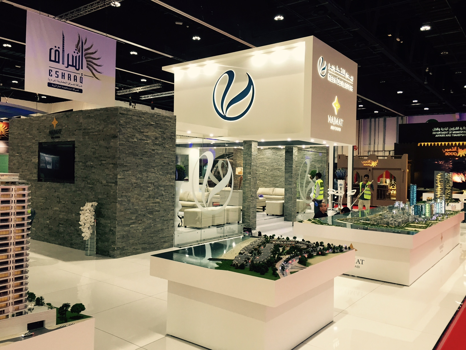 Booth design and build for Reem Developers Abu Dhabi