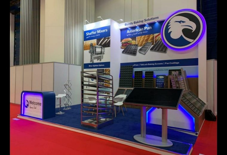 Bundy Baking Solutions Trade show booth design in Dubai for Gulfood Manufacturing DWTC