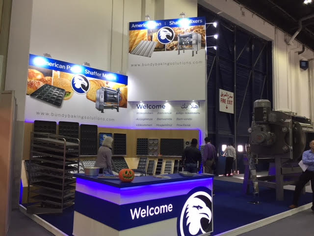 Exhibition stand design and build for Bundy Baking Solutions at Gulfood Manufacturing Dubai World Trade Centre