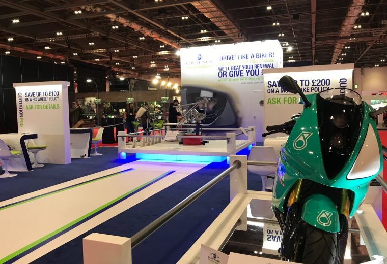 Carole Nash Custom built stand for MCN in London at ExCel