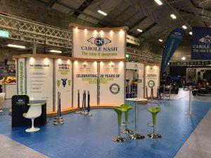 Carole Nash Modular Trade show booth design in Dublin RDS Ireland
