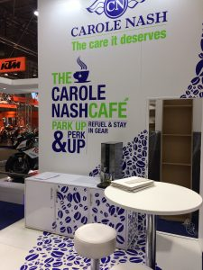 Exhibition stand design and build at Motorcycle Live 2017 NEC Birmingham, UK for our clients Carole Nash
