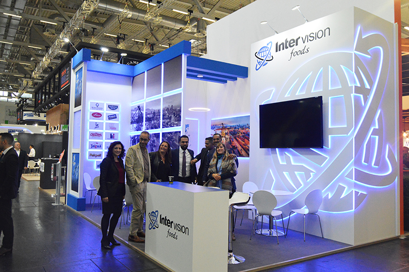 Creative Exhibition stand design for Intervision at Anuga in Cologne Koelnmesse