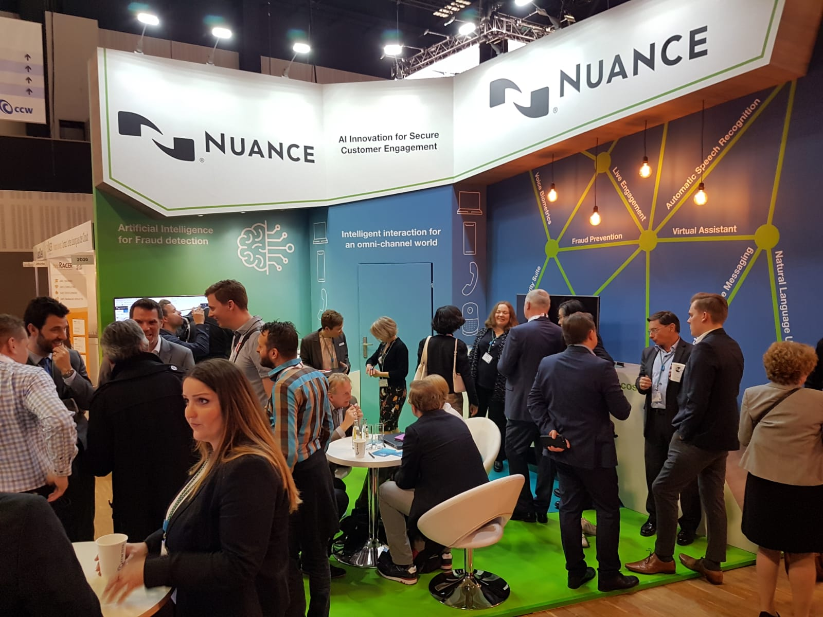 Creative stand design for Nuance at Berlin Estrel Congress Centre