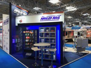 Creative stand design at Birmingham NEC for HayleyRail