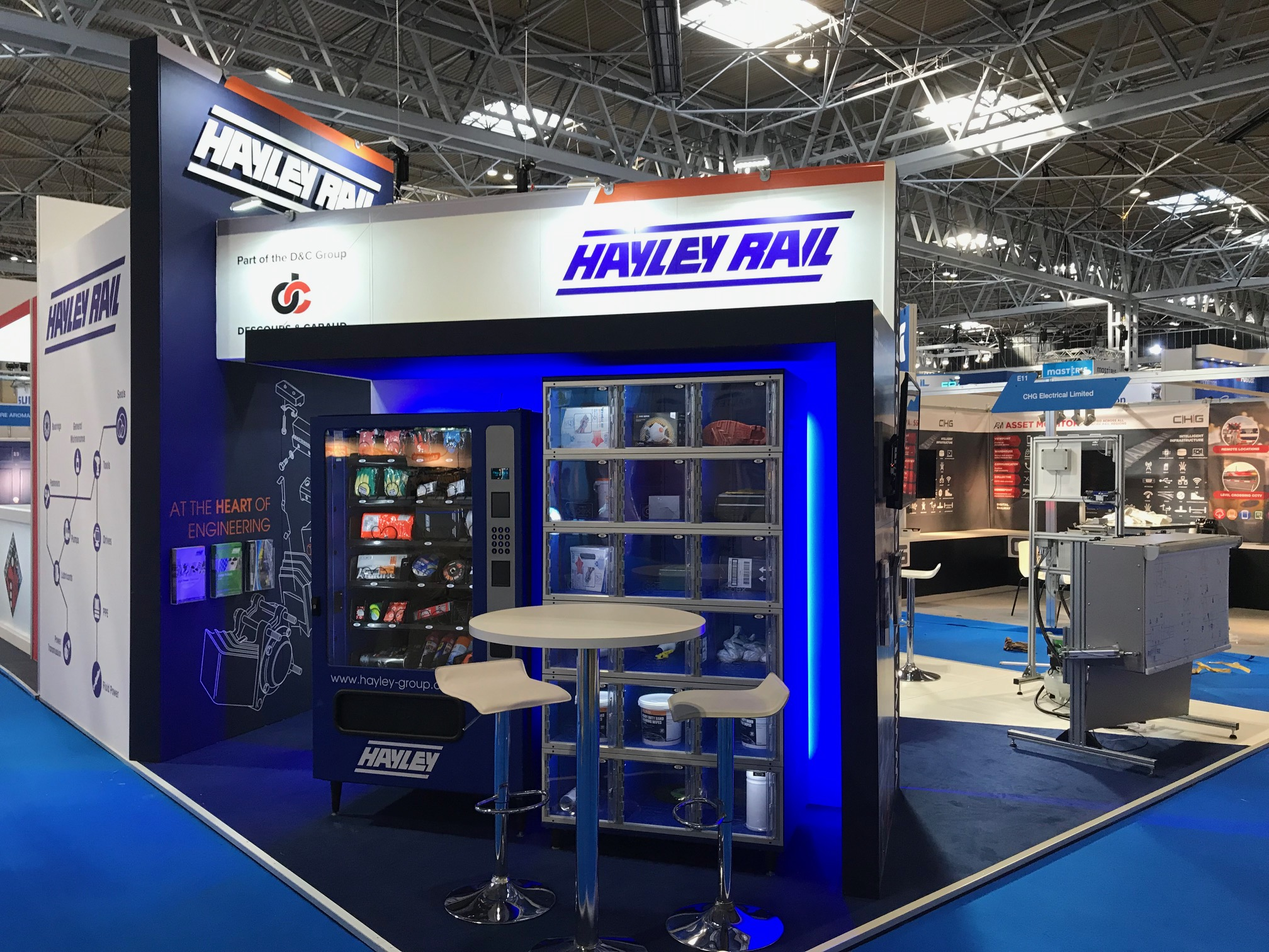 Creative stand design at Birmingham NEC for HayleyRail