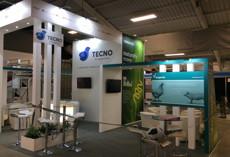 Stand design and build for RSB Poultry and Anpario at the Pig and Poultry Fair NAEC Stoneleigh UK