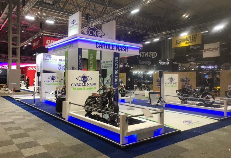 Stand design and build at the NEC Birmingham for Motorcycle Live UK 2018