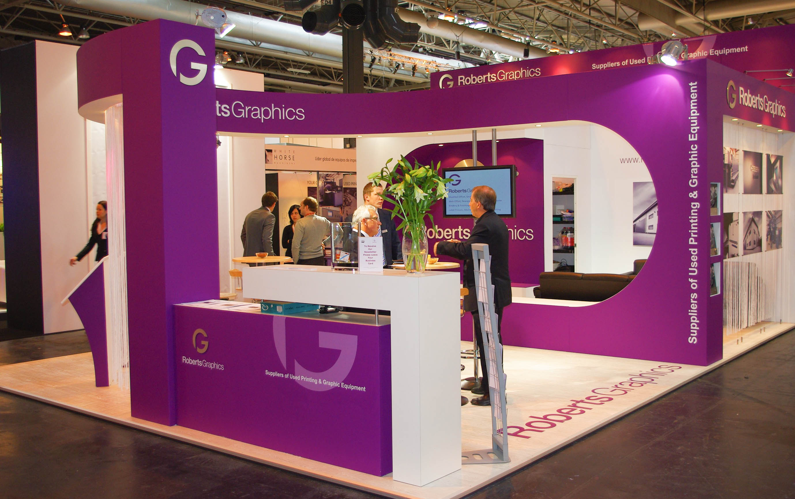 """""""Roberts Graphics exhibition stand at IPEX"""""""