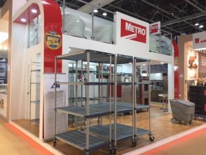 Bespoke exhibition stand at the DWTC Dubai, UAE for the GulfHost expo