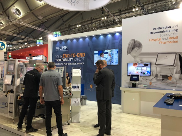 Exhibition stand design and build for Optel at Achema 2018 Messe Frankfurt Germany