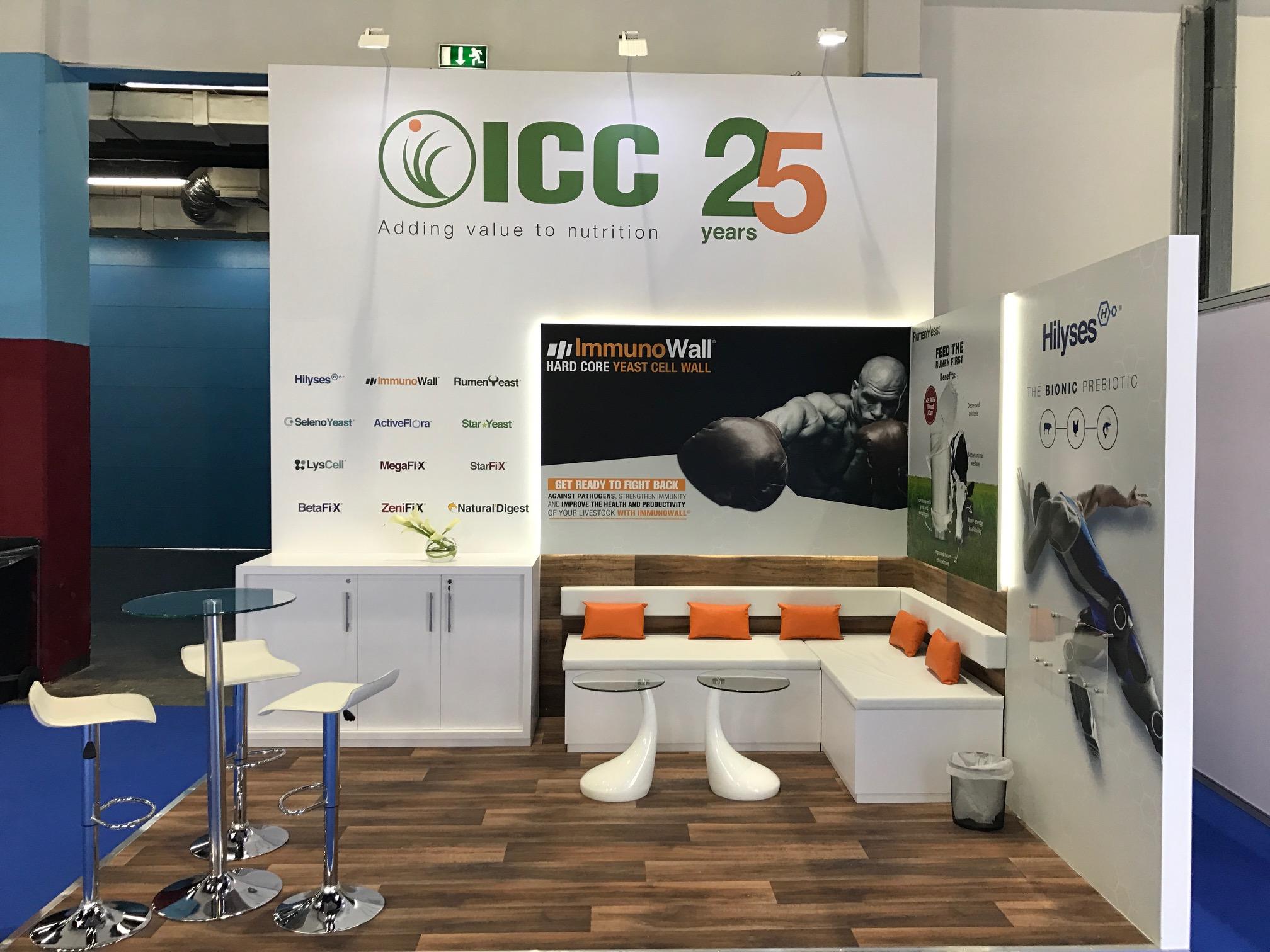 Custom built exhibition booth for ICC at VIV MEA 2018 Abu Dhabi UAE