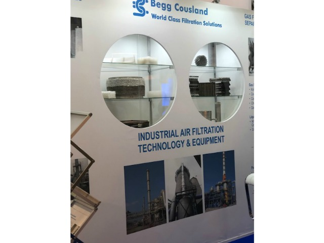 Bespoke exhibition stand for Begg Cousland at Achema 2018 Messe Frankfurt Germany