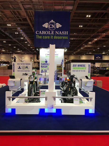 Custom Built Exhibition Stands Uk : Custom built stand carole nash mcn london opus creative