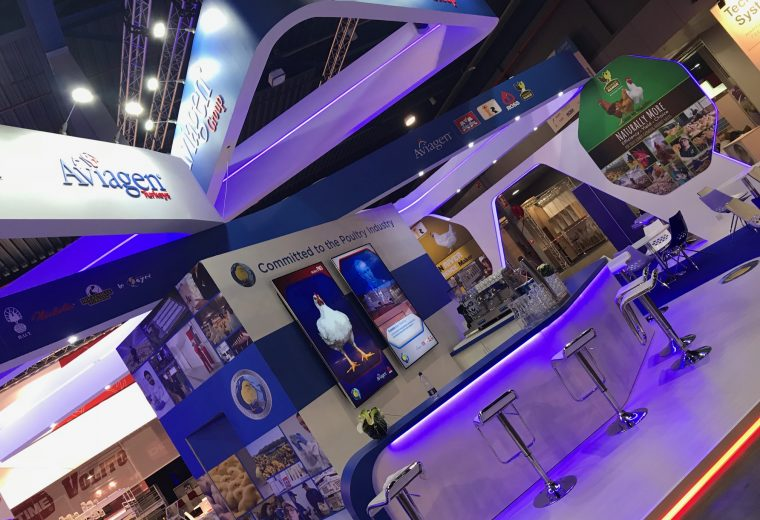 Exhibition booth design and build for Aviagen at VIV Europe Jaarbeurs Utrecht, The Netherlands