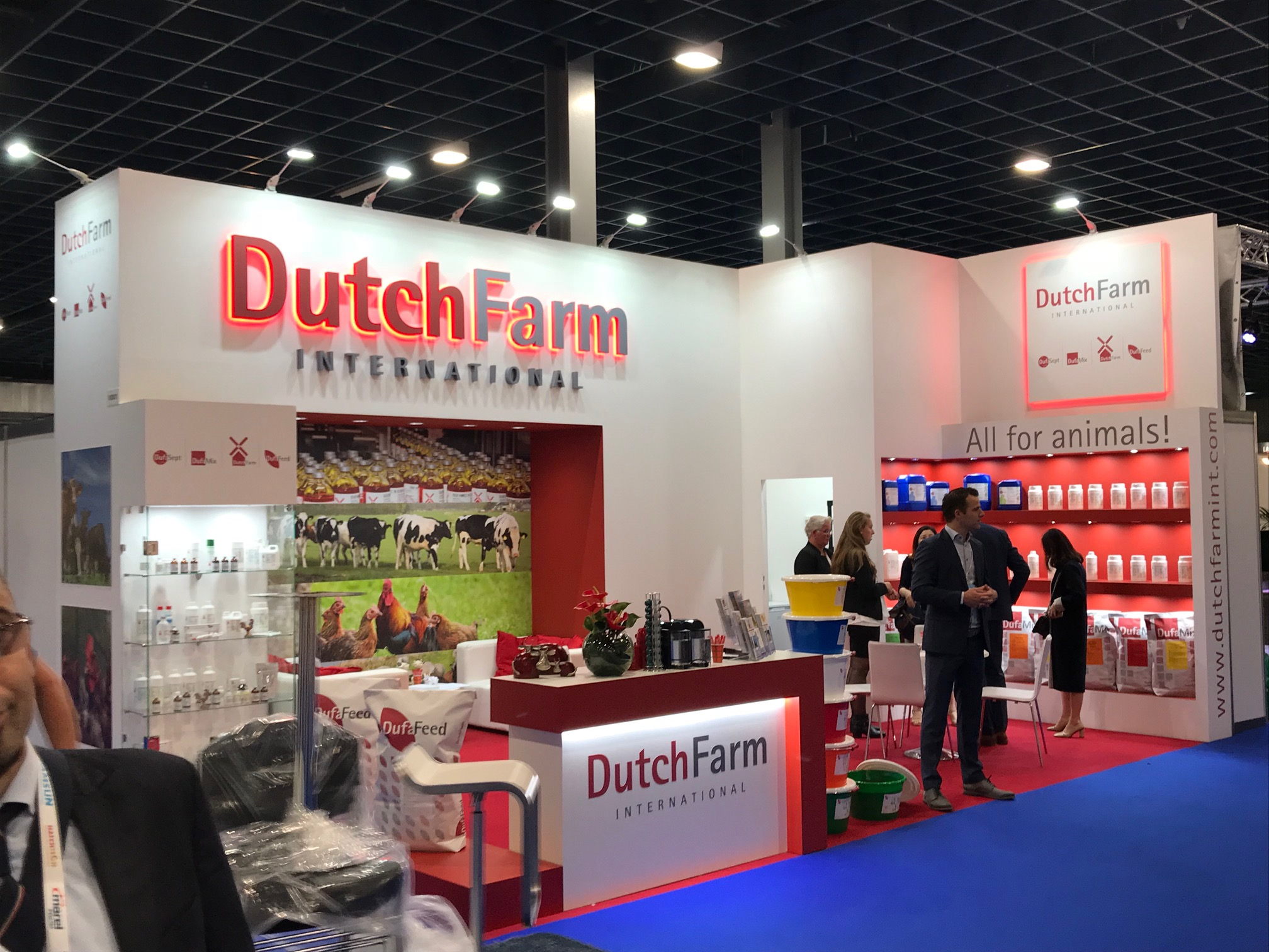 Exhibition booth design and build for Dutch Farm at VIV Europe Jaarbeurs Utrecht, The Netherlands