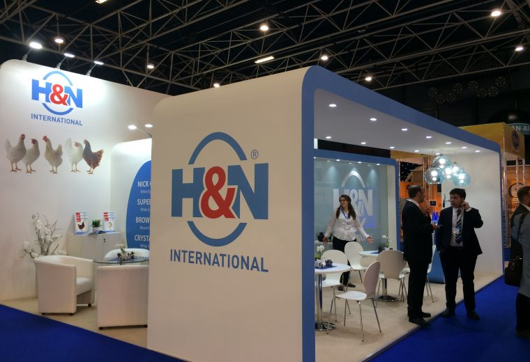 Exhibition booth design and build for H&N at VIV Europe Jaarbeurs Utrecht, The Netherlands