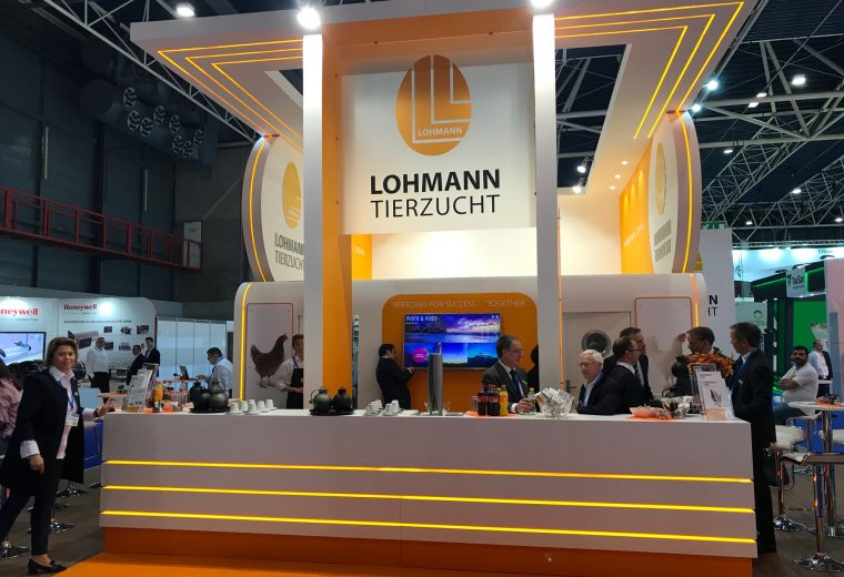 Exhibition booth design and build for Lohmann at VIV Europe Jaarbeurs Utrecht, The Netherlands