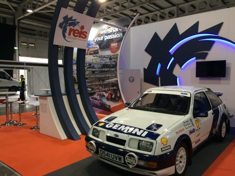 Exhibition stand design and build at Race Retro 2018 NAEC Stoneleigh - Warkwickshire, UK
