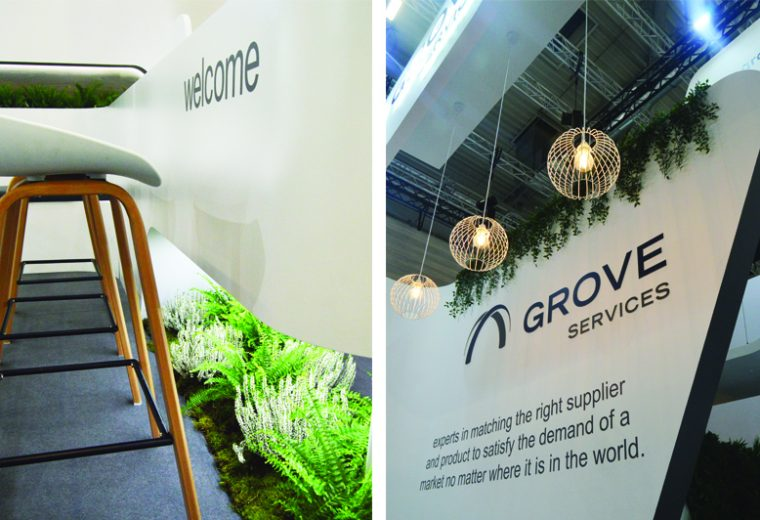 Custom built stand at Anuga in Koelnmesse Cologne for Grove