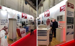 Custom built stand at Arab Health at DWTC Dubai