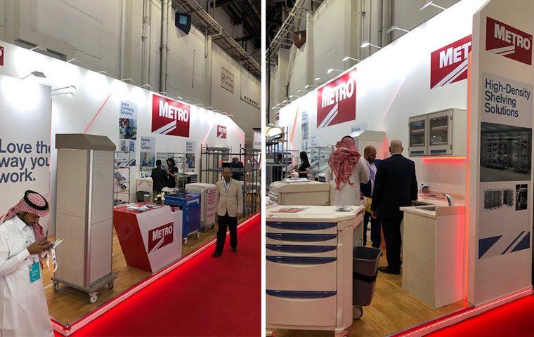 Custom built stand at Arab Health at DWTC Dubai