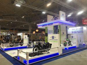Custom built exhibition stand Motorcycle Live 2018 NEC Birmingham UK