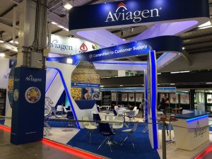 Custom built exhibition stand at the Pig & Poultry Fair - NAEC Stoneleigh, Warwickshire UK