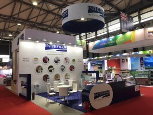 Custom built stand at SIAL China for Interra