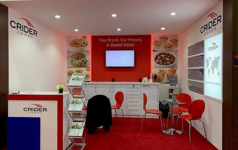 Custom built trade show stand at DWTC Dubai UAE for Crider
