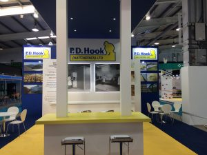 Custom built stand for PD Hook at the Pig & Poultry Fair NAEC Stoneleigh UK