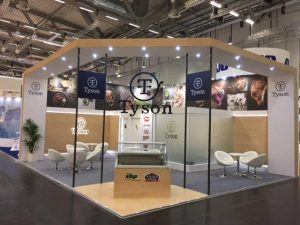 Trade show stand design and build for Tyson at Anuga 2017 Koelnmesse Cologne, Germany