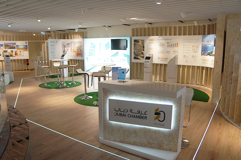 Dubai Chamber of Commerce exhibiting at the Expo Milano 2015 exhibition, Milan